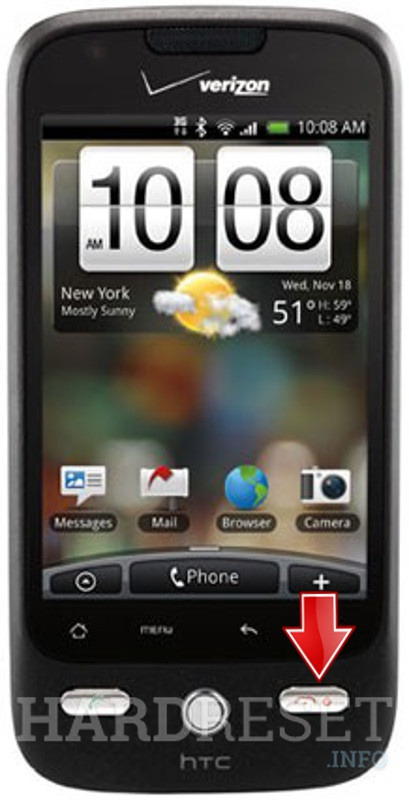 Remove screen password HTC Droid Eris
