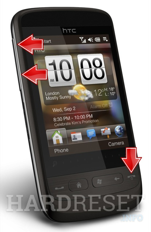 Factory Reset HTC Touch2