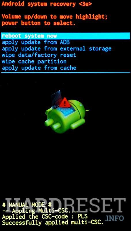 Recovery Mode SAMSUNG J100F Galaxy J1 - HardReset info