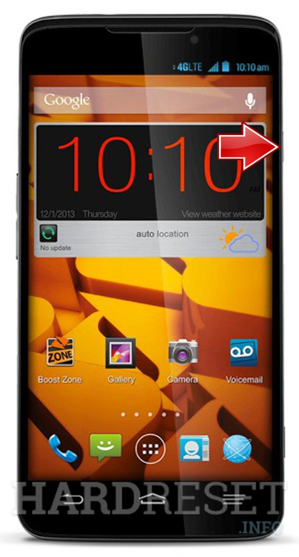 Neil zte n9130 factory reset mission support