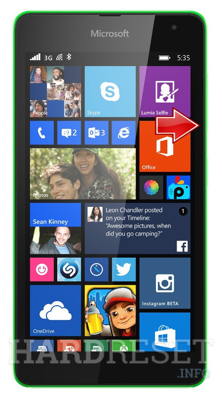 Wipe data MICROSOFT Lumia 535 Dual SIM