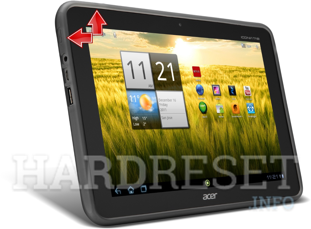 HardReset ACER A200 Iconia Tab