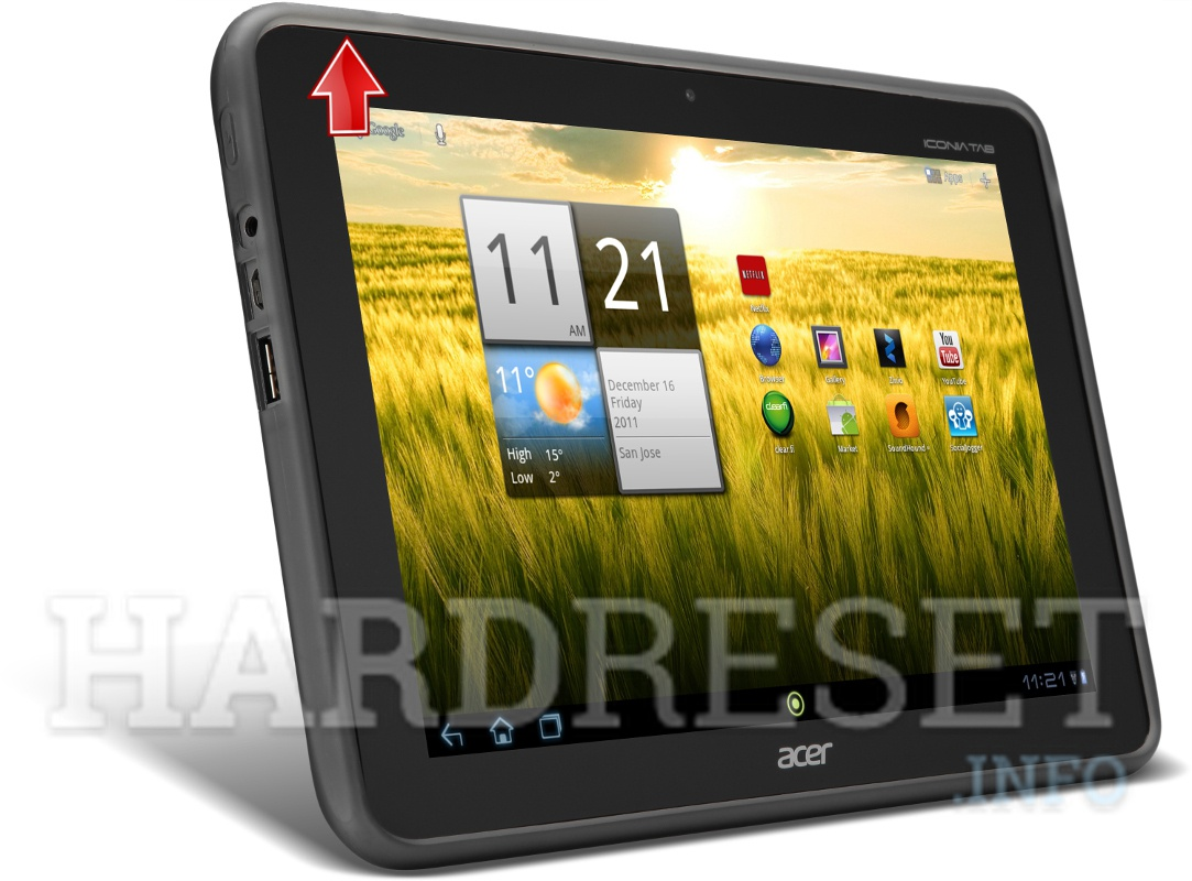 Factory Reset ACER A200 Iconia Tab