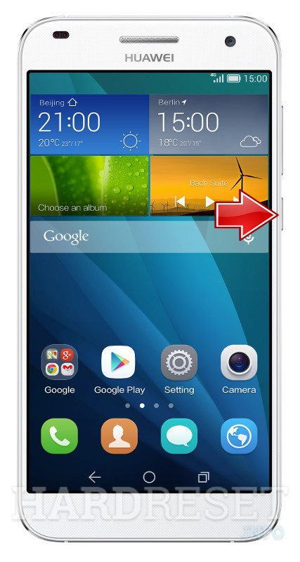 Remove Screen Lock on HUAWEI Ascend G7