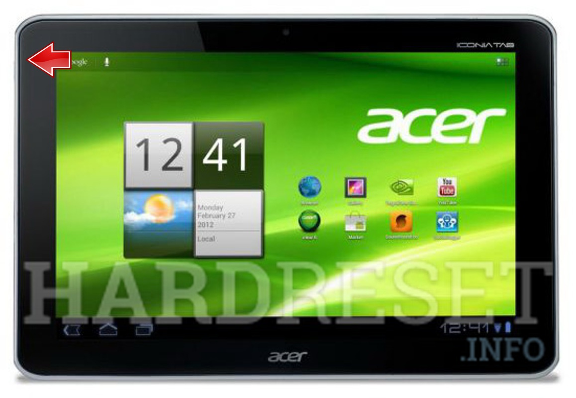 Hard Reset ACER A211 Iconia Tab