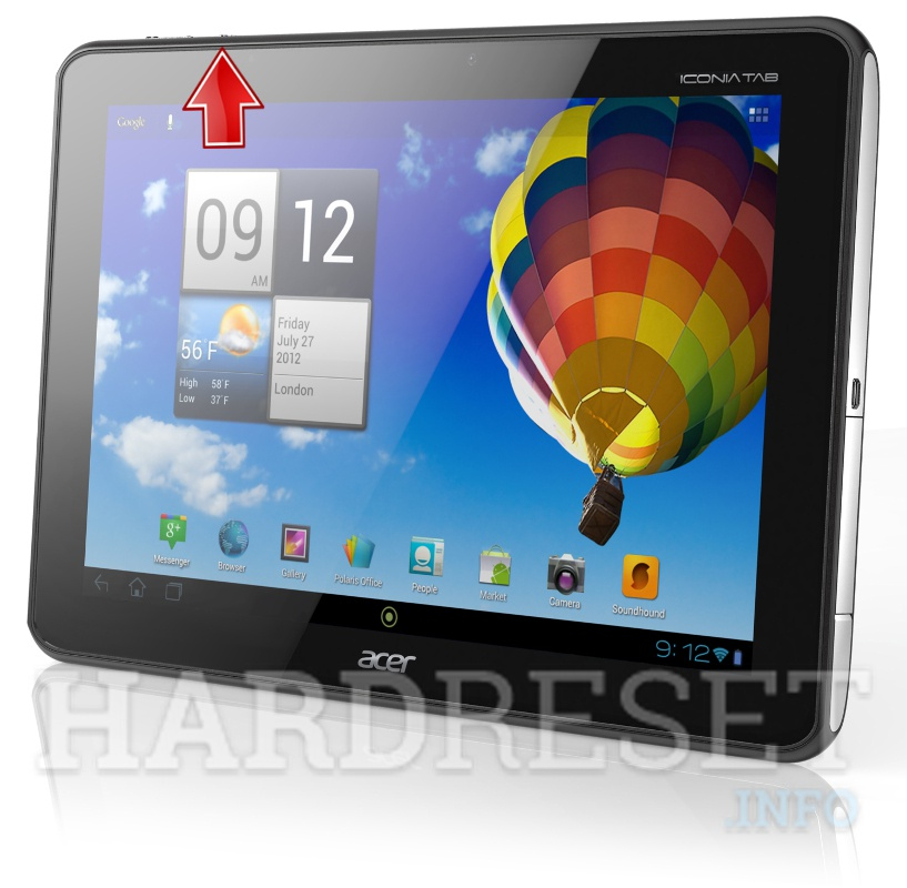 Master Reset ACER A510 Iconia Tab