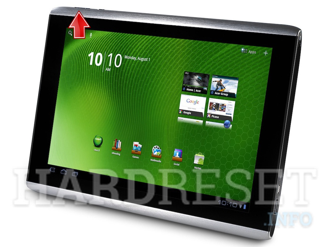 HardReset ACER A500 Iconia Tab