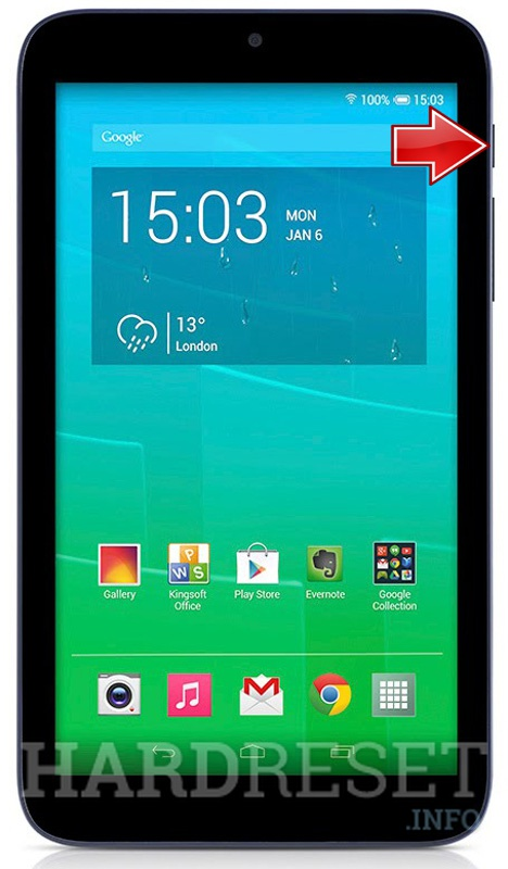 Hard Reset ALCATEL One Touch 8 Pixi