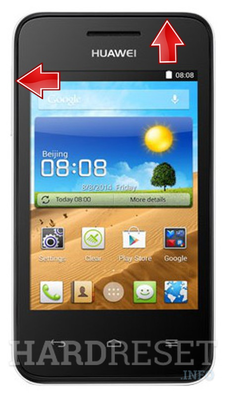 Remove screen password on HUAWEI Ascend Y521