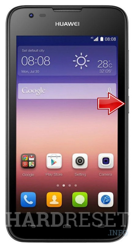 Hard Reset HUAWEI Ascend Y550
