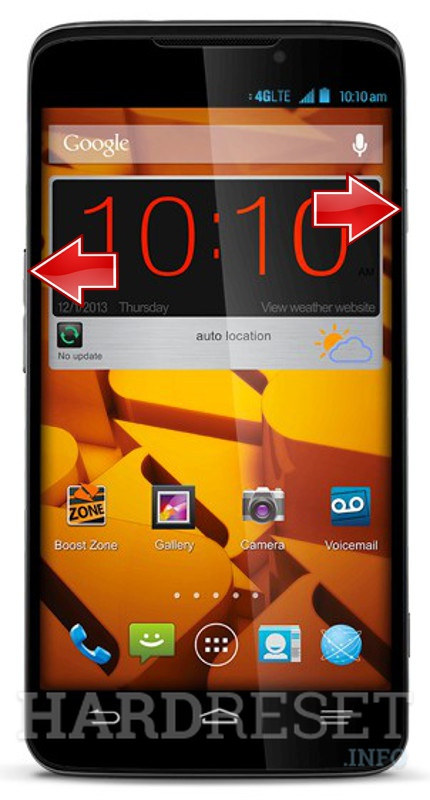Remove screen password ZTE Boost Max