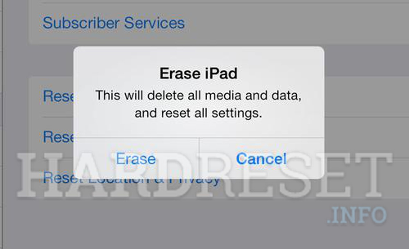 Wipe data APPLE iPad 2 WiFi