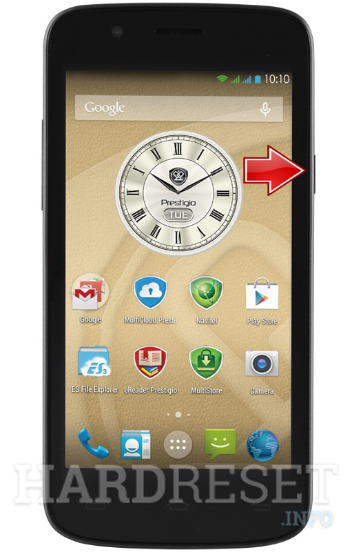 Hard Reset PRESTIGIO MultiPhone 5504 DUO