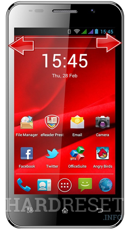 Remove screen password on PRESTIGIO MultiPhone 4044 DUO