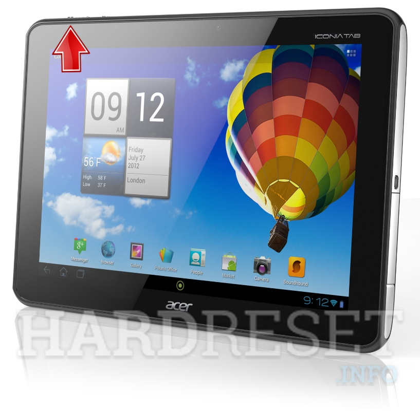 Hard Reset ACER A511 Iconia Tab