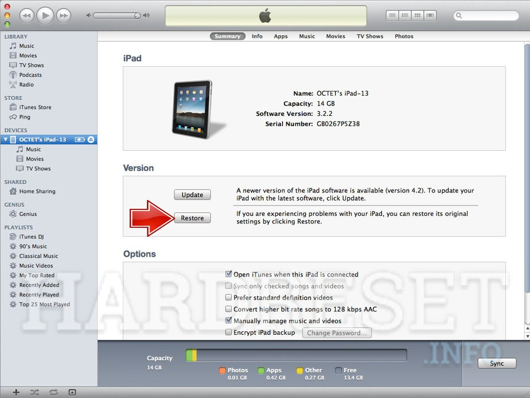 ipad air recovery mode restore