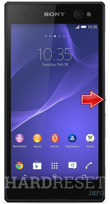 how to hard reset sony xperia z using buttons provides