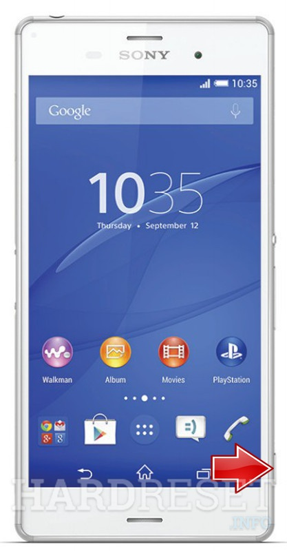 Factory Reset SONY Xperia Z3 D6603