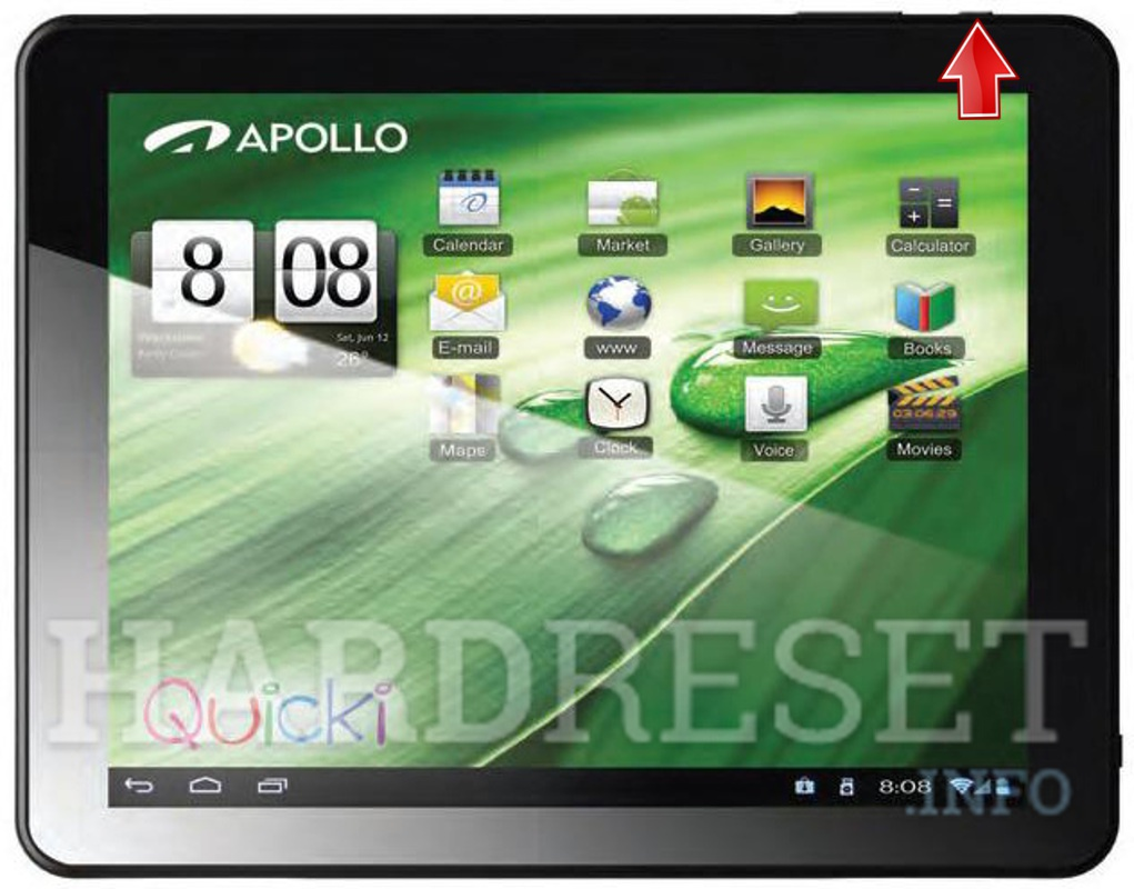 Hard Reset APOLLO Quicki 1034