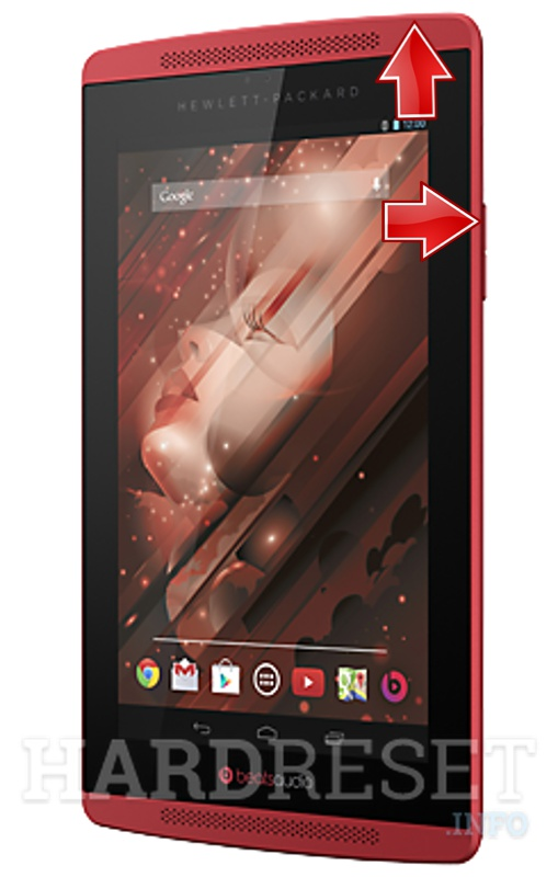 HardReset HP Slate 7 Beats Special Edition