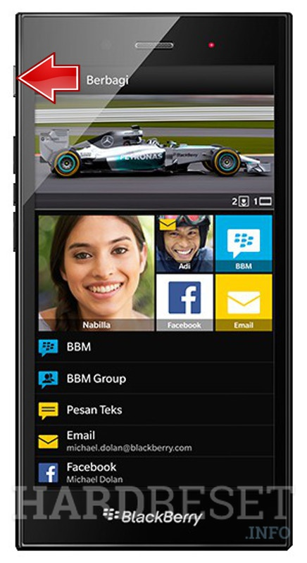 Hard Reset BLACKBERRY Z3 - HardReset info