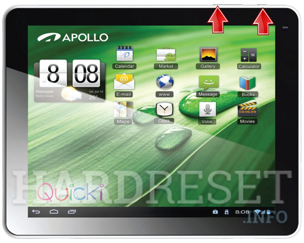 Permanently delete data from APOLLO Quicki 1035