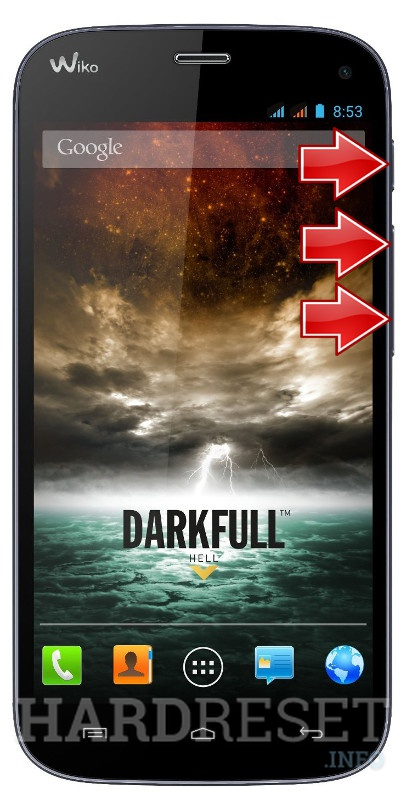 Wipe data WIKO Darkfull