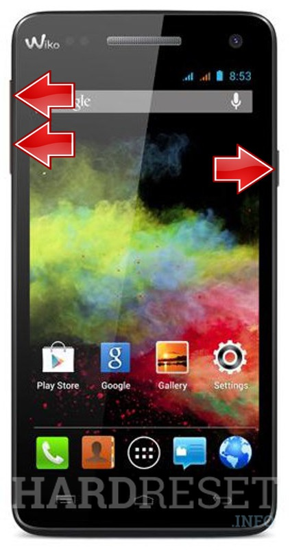 Wipe data on WIKO Rainbow