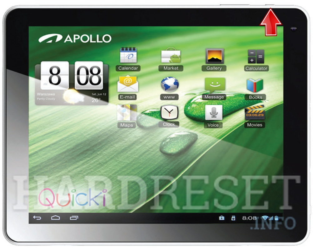 Remove Screen Lock on APOLLO Quicki 1035