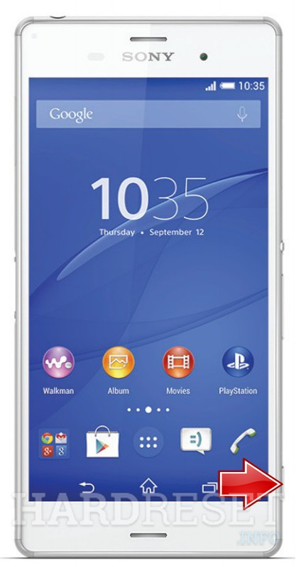 Factory Reset SONY Xperia Z3 D6643