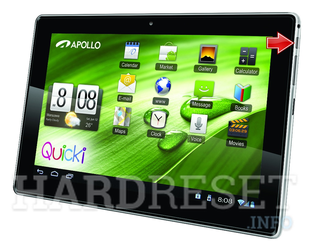 Hard Reset APOLLO Quicki 1150