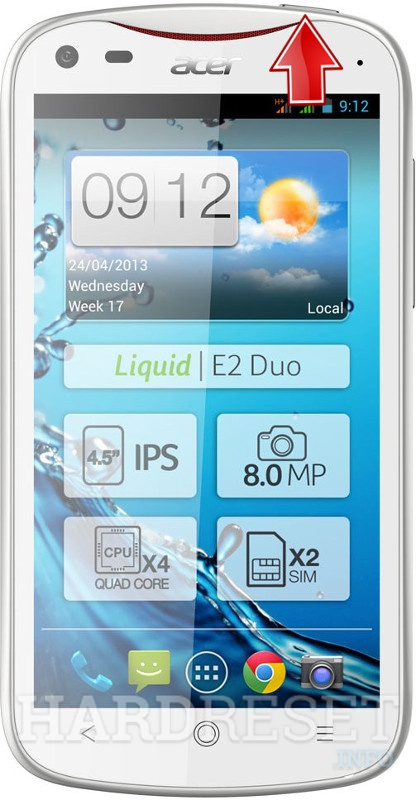 Hard Reset ACER Liquid E2