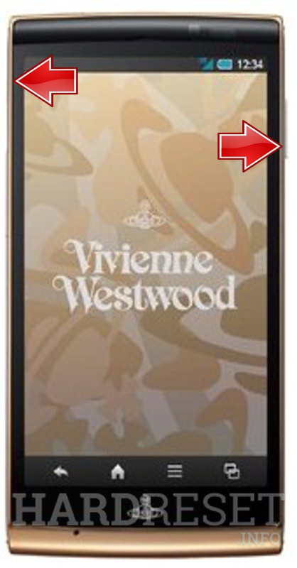Wipe data on SHARP SH-01E Vivienne Westwood