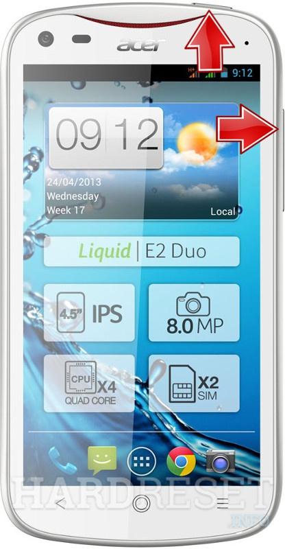 для acer liquid инструкция v370 e2 duo