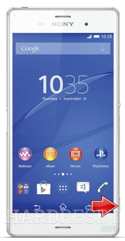 Factory Reset SONY Xperia Z3 D6653