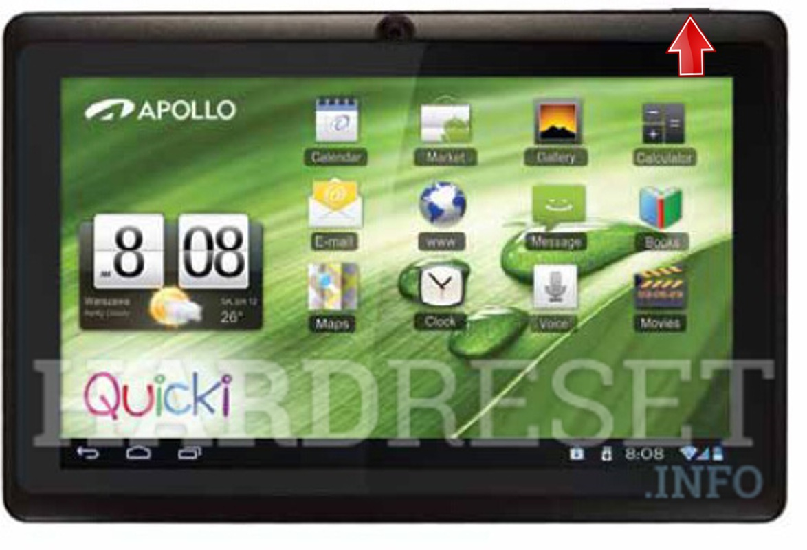 Hard Reset APOLLO Quicki 728