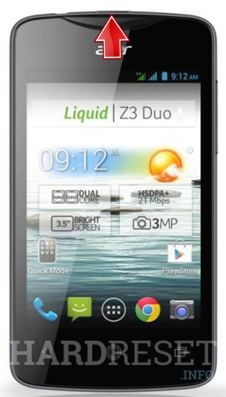 Hard Reset ACER Liquid Z3