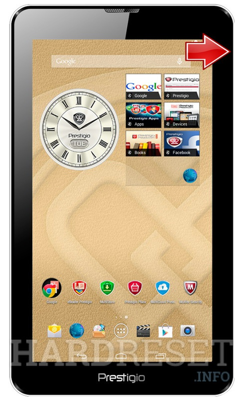 Wipe data on PRESTIGIO 3038 MultiPad Wize