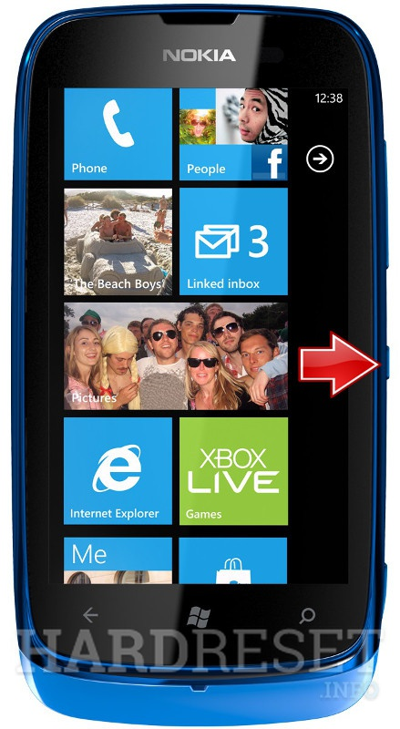 Wipe data on NOKIA Lumia 610
