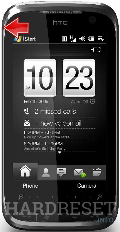 Wipe data HTC Touch Pro2 (HTC Rhodium) T7373