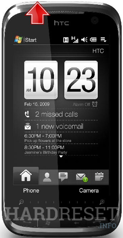 Factory Reset HTC Touch Pro2 (HTC Rhodium) T7373