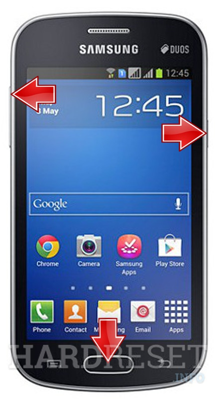 Remove screen password on SAMSUNG S7390 Galaxy Trend Lite