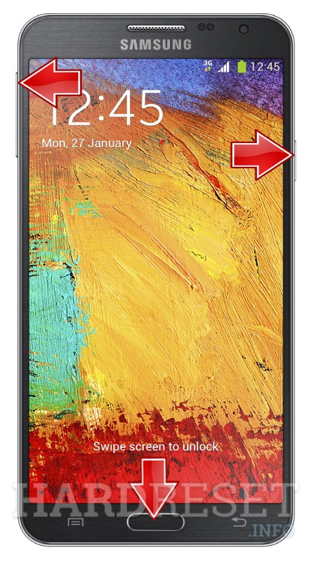 Удаление данных на SAMSUNG Galaxy Note 3 Neo 3G