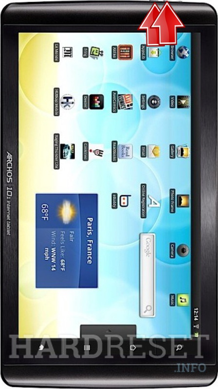 HardReset ARCHOS 101 Internet Tablet