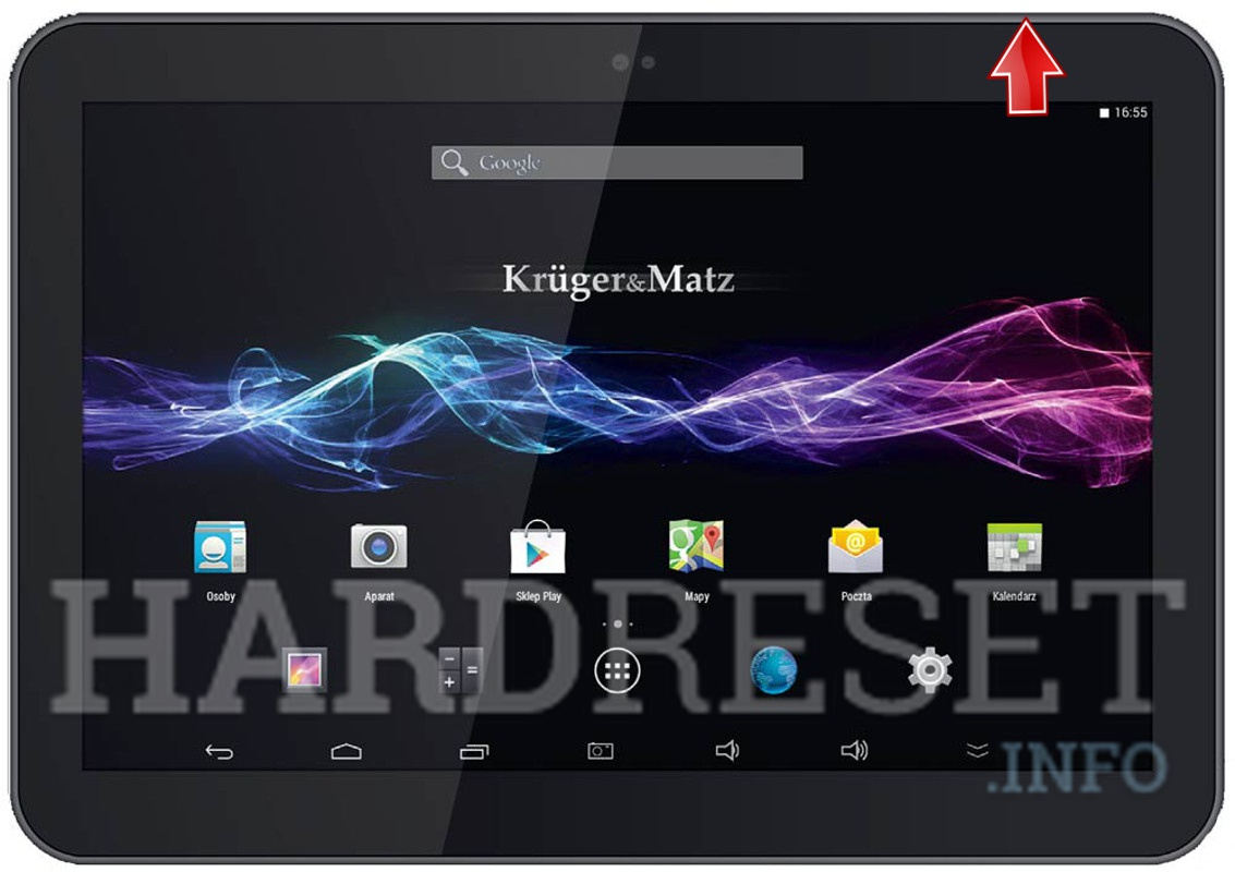 Remove screen password on KRUGER & MATZ Eagle 1065