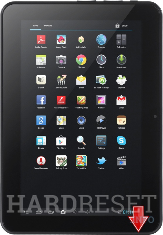 Hard Reset KRUGER & MATZ Tablet 10,1