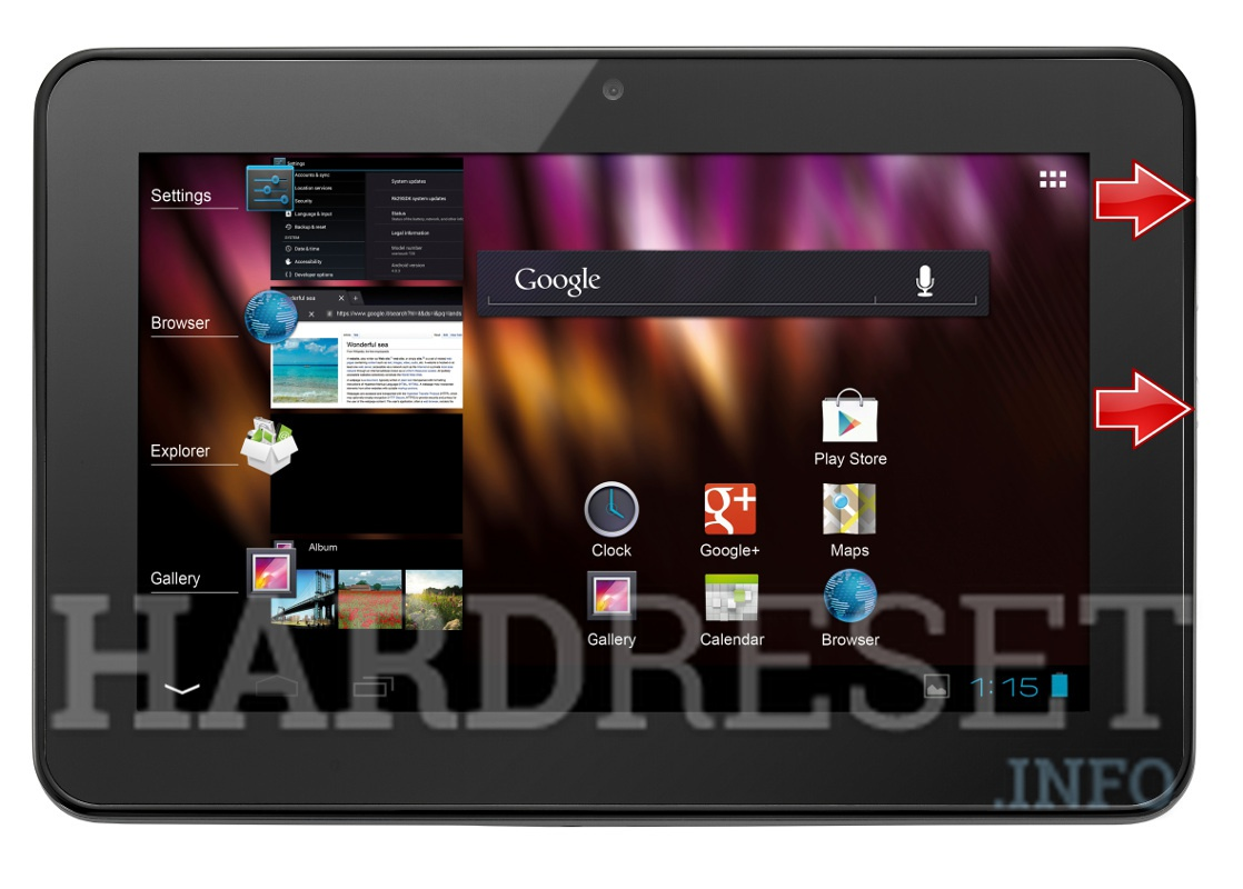 HardReset ALCATEL ONE TOUCH EVO7 HD