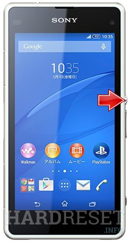 Hard Reset SONY Xperia J1 Compact D5788