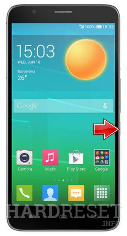 Remove screen password on ALCATEL Flash