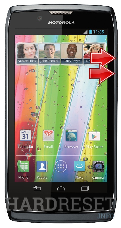 Wipe data on MOTOROLA XT885 RAZR V